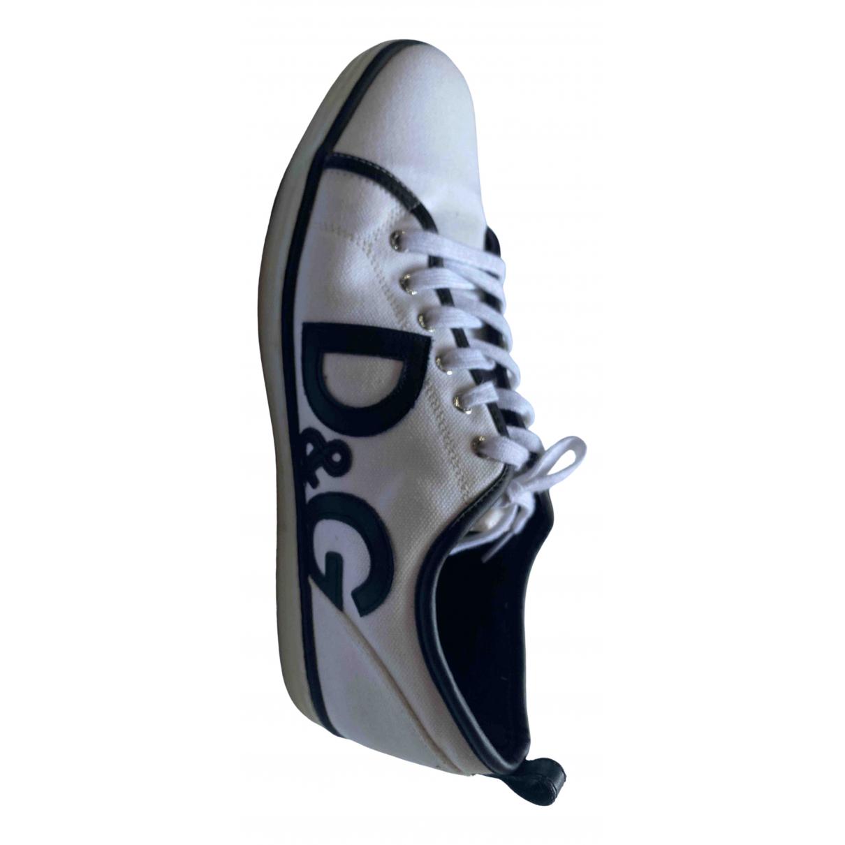 D&g \N Sneakers in  Weiss Leinen