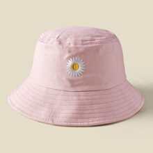 Flower Embroidered Bucket Hat