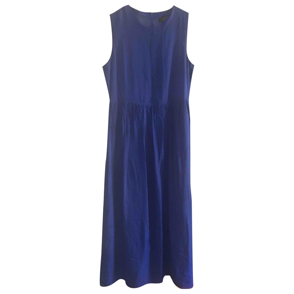 Le Mont Saint Michel \N Blue Silk dress for Women 40 FR