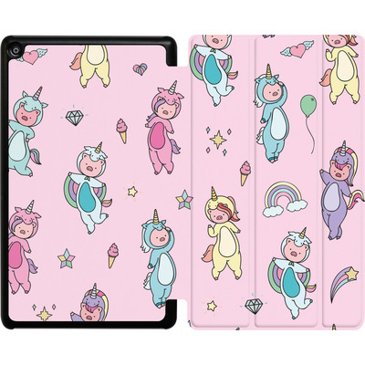 Amazon Fire HD 8 (2018) Tablet Smart Case - Piggy Unicorns von Chan-chan