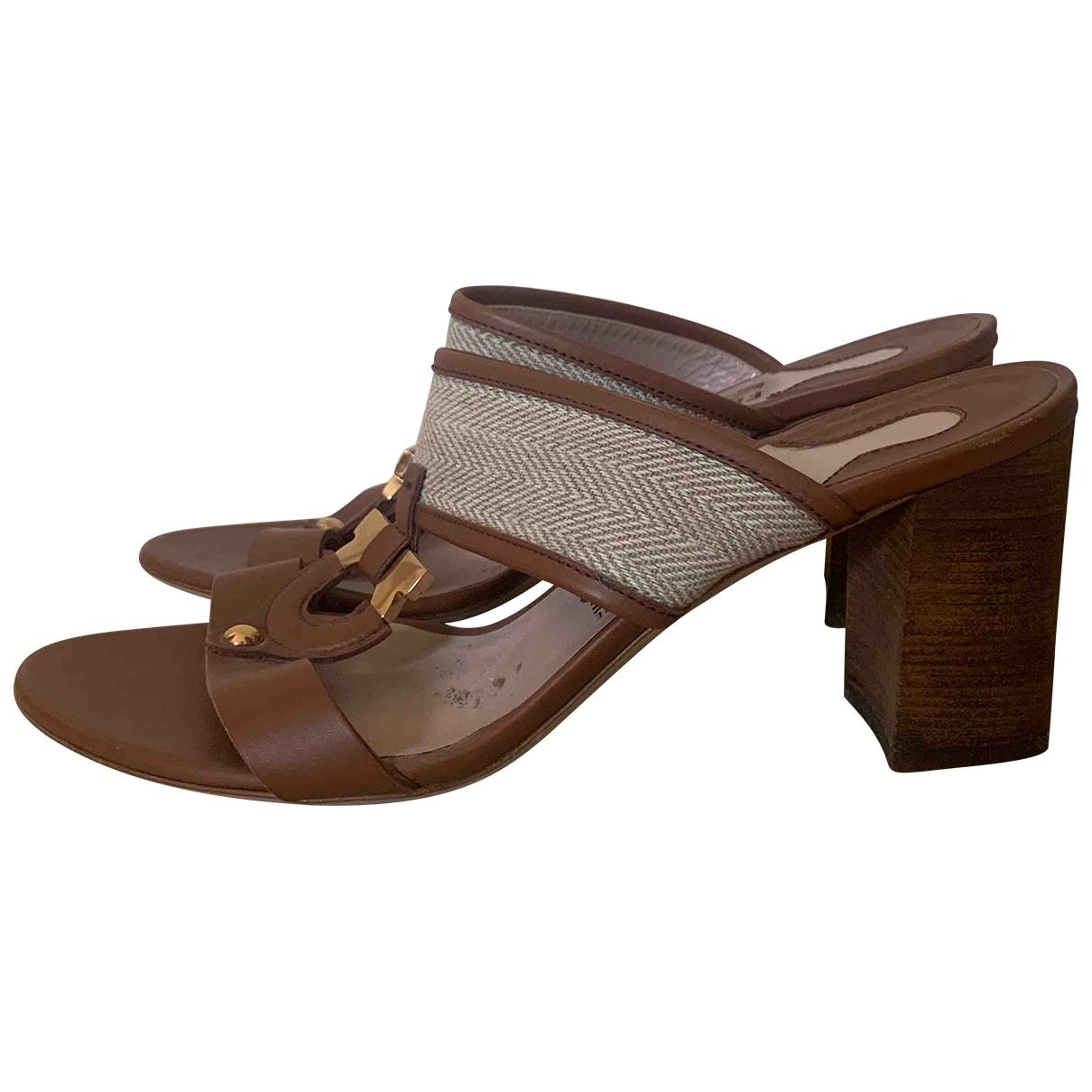 Salvatore Ferragamo \N Brown Leather Sandals for Women 38 IT