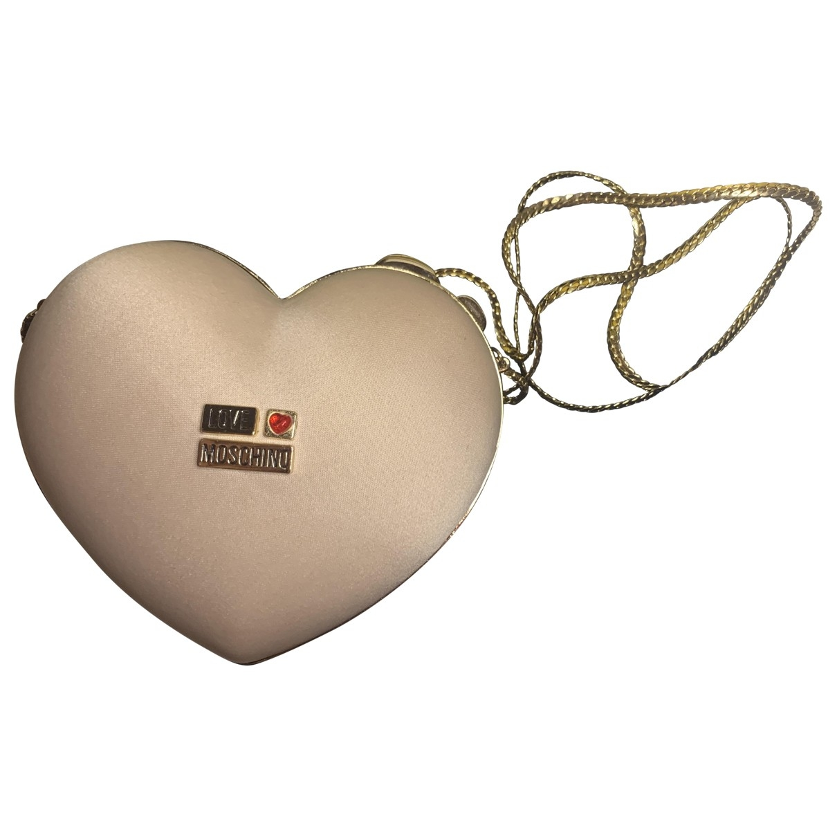Moschino Love \N Beige Silk Clutch bag for Women \N