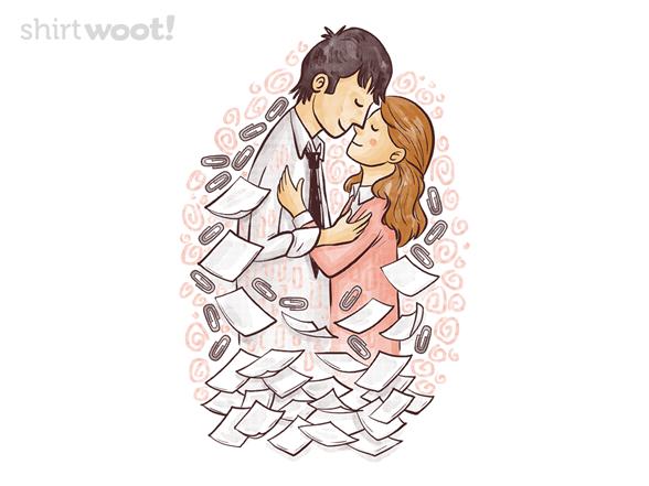 The Kiss Of Office Romance T Shirt