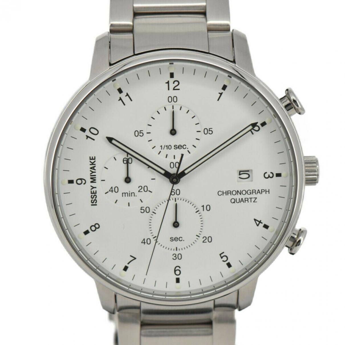 Issey Miyake \N White Steel watch for Men \N