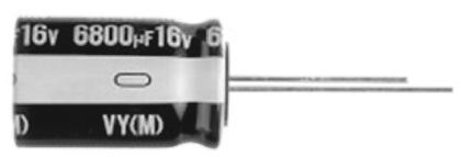 Nichicon 6800μF Electrolytic Capacitor 25V dc, Through Hole - UVY1E682MHD