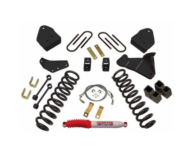 Skyjacker F5651K Lift Kit 6 Inch Lift w/Front Variable Rate Coil Springs Track Bar Radius Arm Drop Brackets Single Steering Stabilizer 05-06 Ford F-35