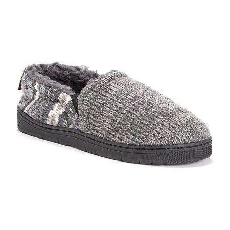 MUK LUKS Christopher Moccasin Slippers, 10-11 , Gray
