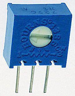 Bourns 100Ω, Through Hole Trimmer Potentiometer 0.5W Side Adjust , 3386