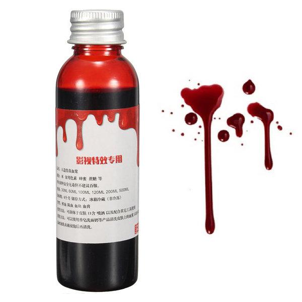 60ml Blood Effect Makeup Liquid Halloween Prop Stage Prank Theatrical Vampire Cosplay Cosmetic