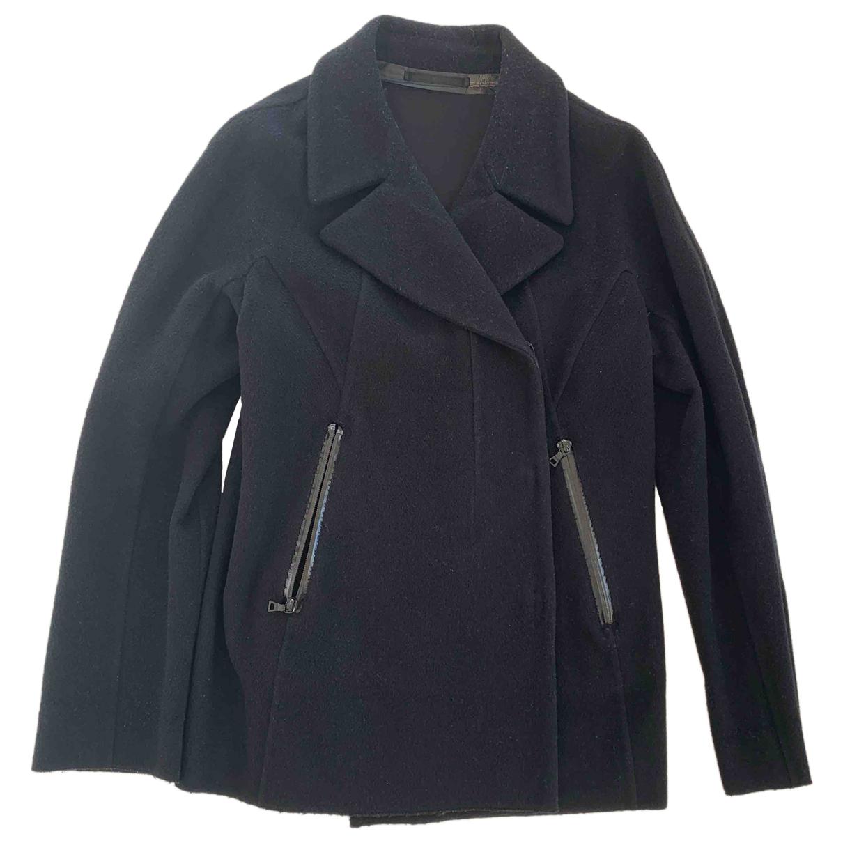 Prada N Black Wool coat for Women 44 IT