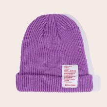 Letter Patch Beanie