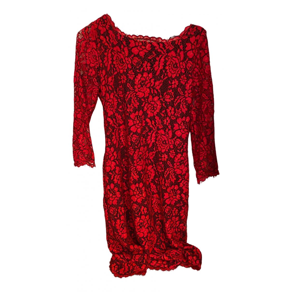 Diane Von Furstenberg \N Kleid in  Rot Spitze