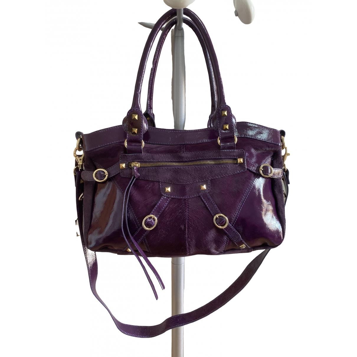 Versace Jean - Sac a main   pour femme en cuir - violet