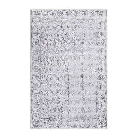 nuLoom Astrid Floral Rectangular Rug, One Size , Gray
