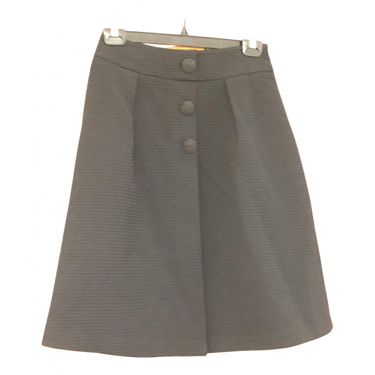 Non Signé / Unsigned N Black Wool skirt for Women One Size International