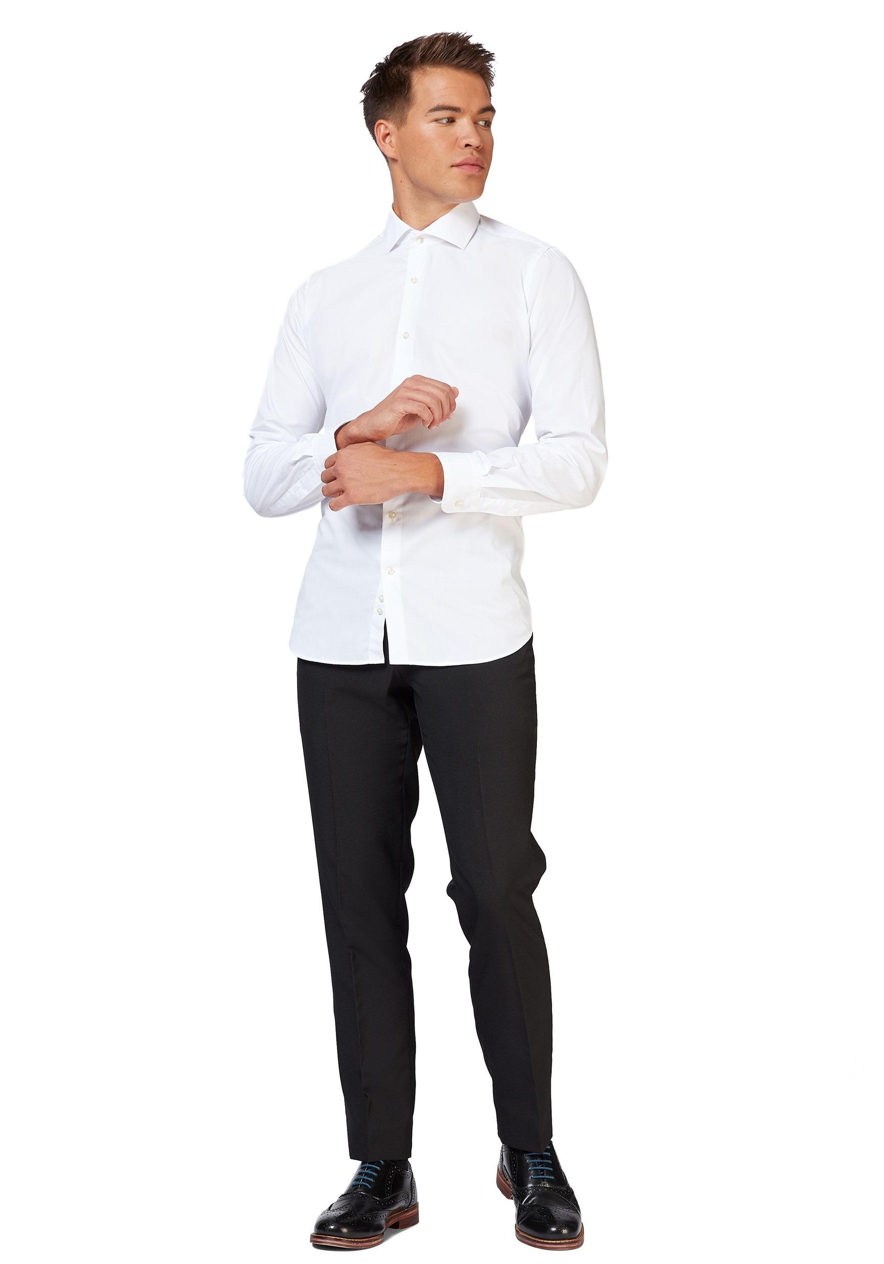 OppoSuits White Knight Men's Shirt