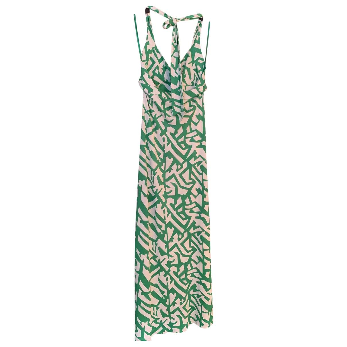 Diane Von Furstenberg - Robe   pour femme en soie - vert