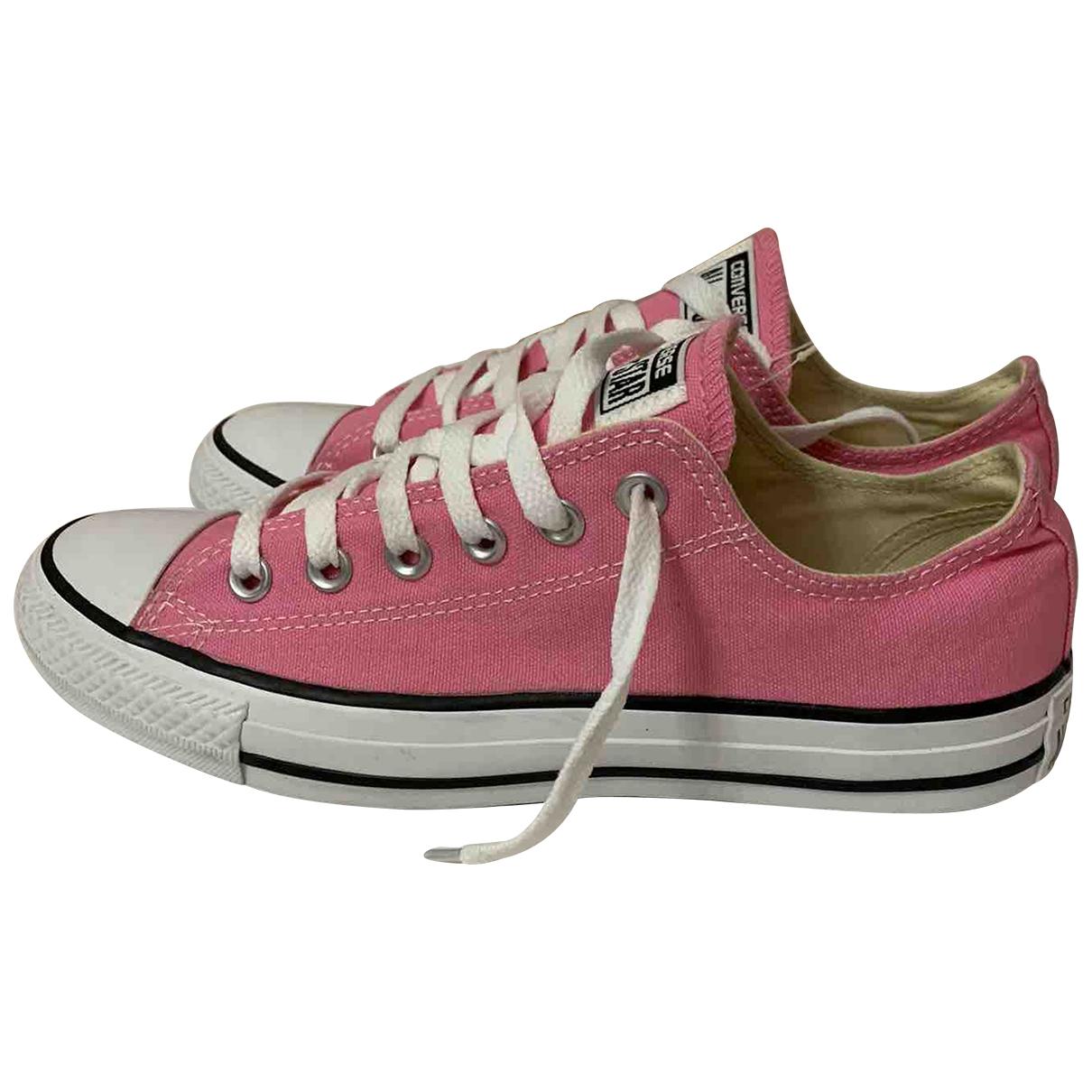Converse - Mocassins   pour femme en toile - rose