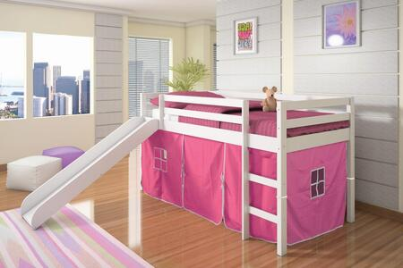 750-TW_750C-TP Tent Bed in White with Pink Tent