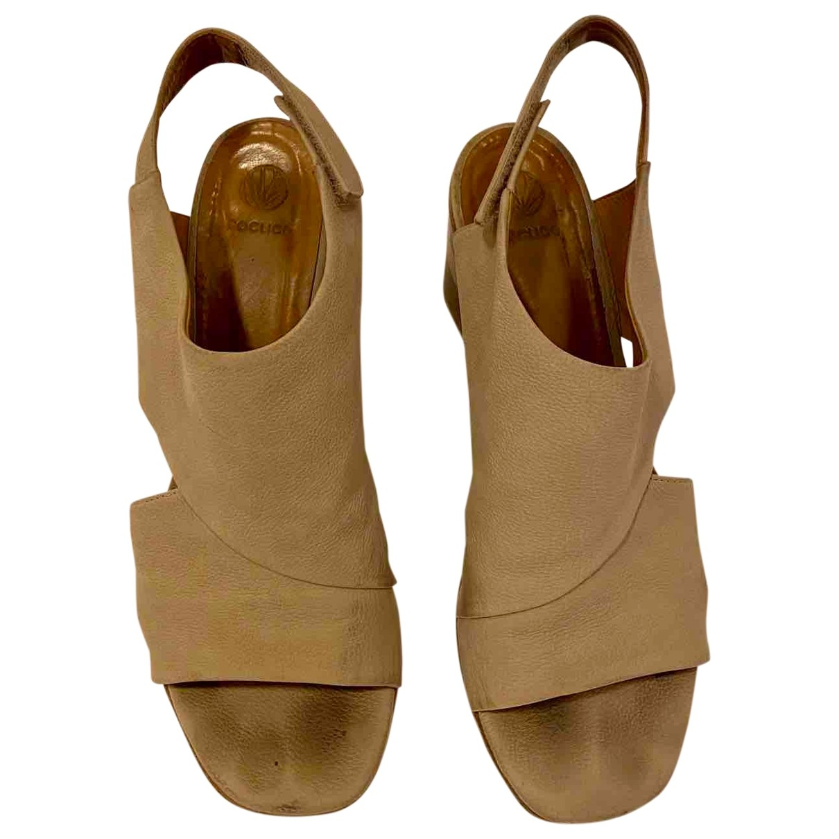 Coclico \N Beige Leather Heels for Women 40 EU