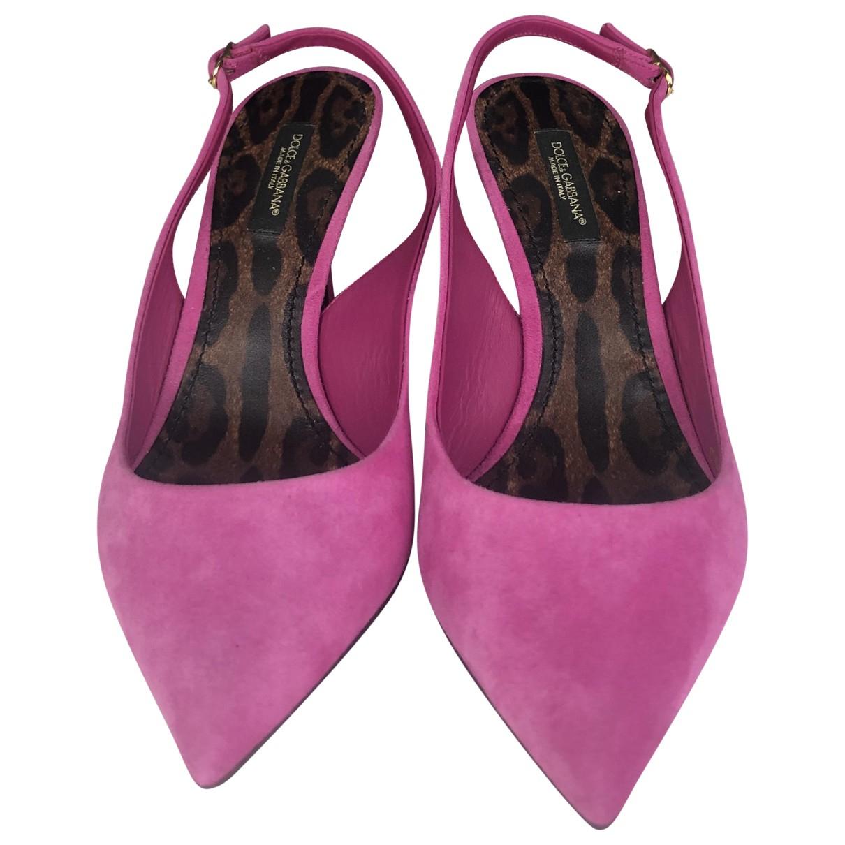 Dolce & Gabbana \N Pumps in  Rosa Veloursleder