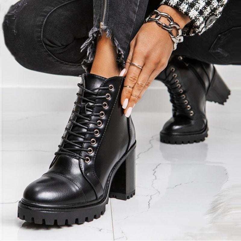 Ericdress Chunky Heel Side Zipper Plain Sexy Boots