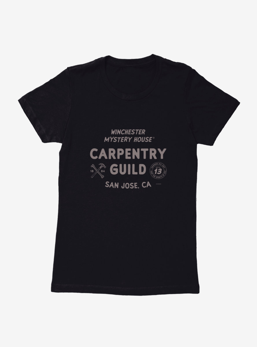 Winchester Mystery House Carpentry Guild Womens T-Shirt