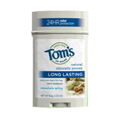 Long Lasting Men's Deodorant Stick Mountain Spring 2.25 oz by Tom's Of Maine