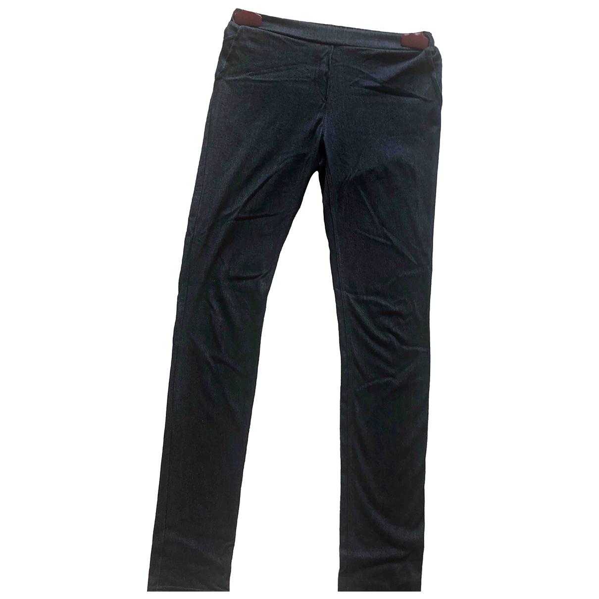 Pantalones en Viscosa Azul Kenzo