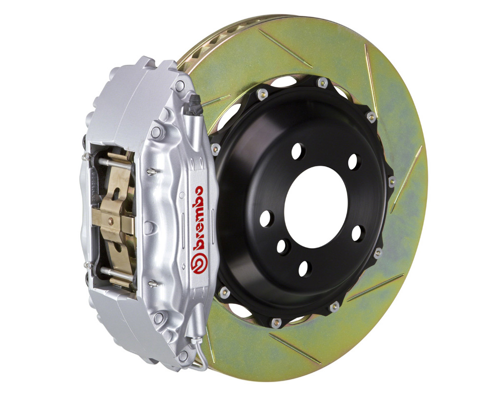 Brembo GT 332x32 2-Piece 4 Piston Silver Slotted Front Big Brake Kit