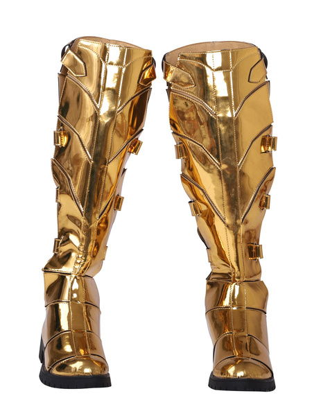 Milanoo DC Wonder Woman 1984 Diana Prince Armor Golden Shoes Cosplay Boots