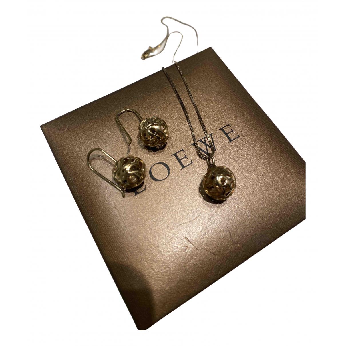Loewe - Boucles doreilles   pour femme en metal - dore