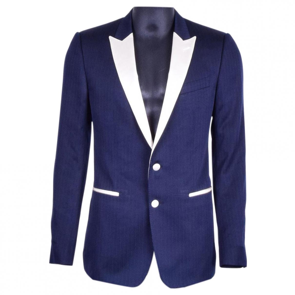 Dolce & Gabbana \N Anzuege in  Blau Wolle