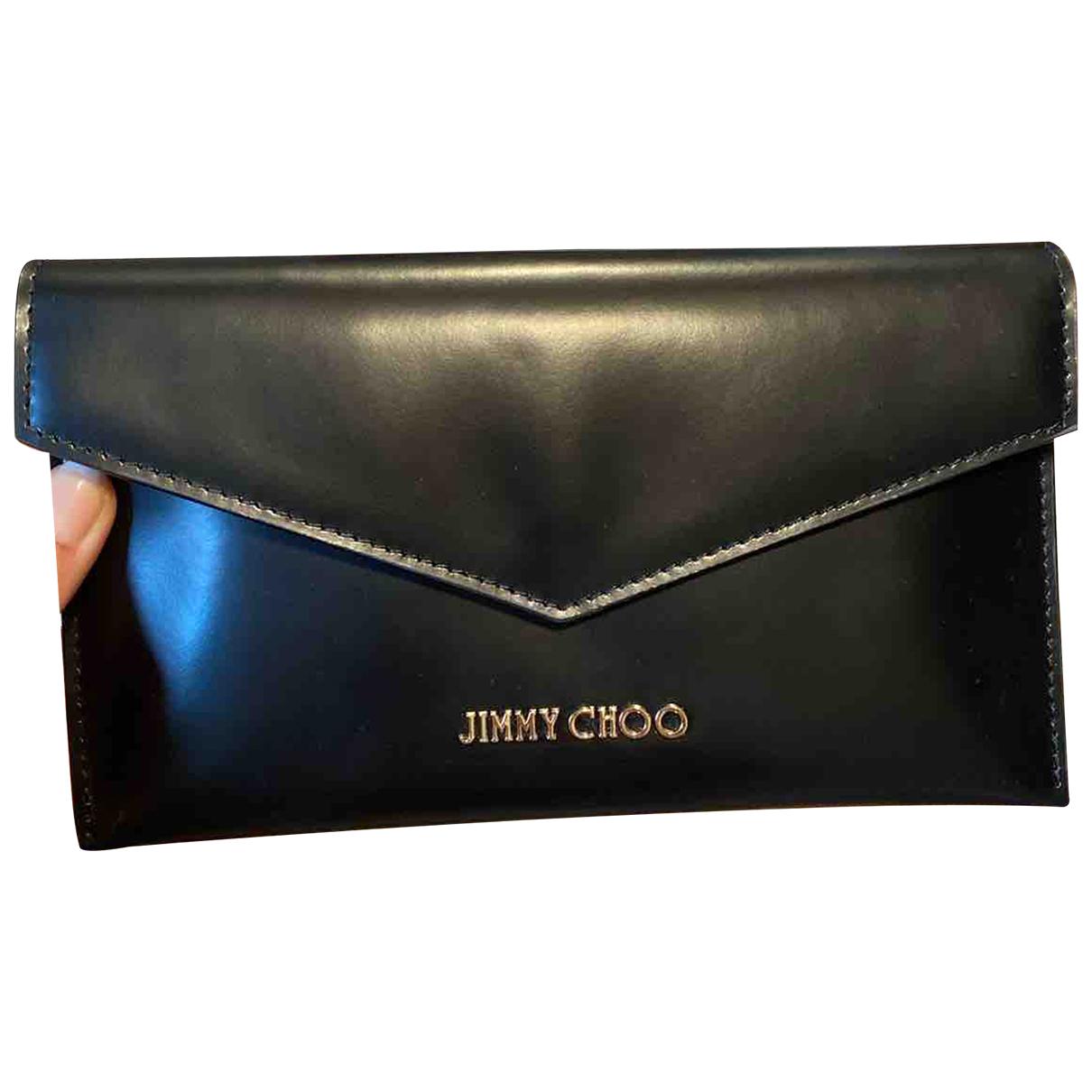 Jimmy Choo \N Portemonnaie in  Schwarz Leder