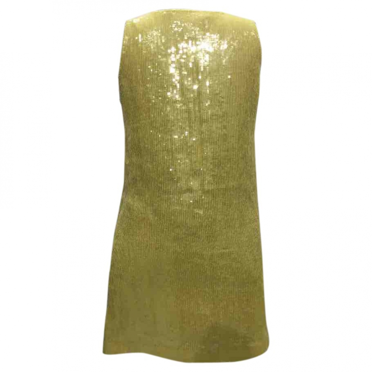 Diane Von Furstenberg \N Yellow Glitter dress for Women 4 US