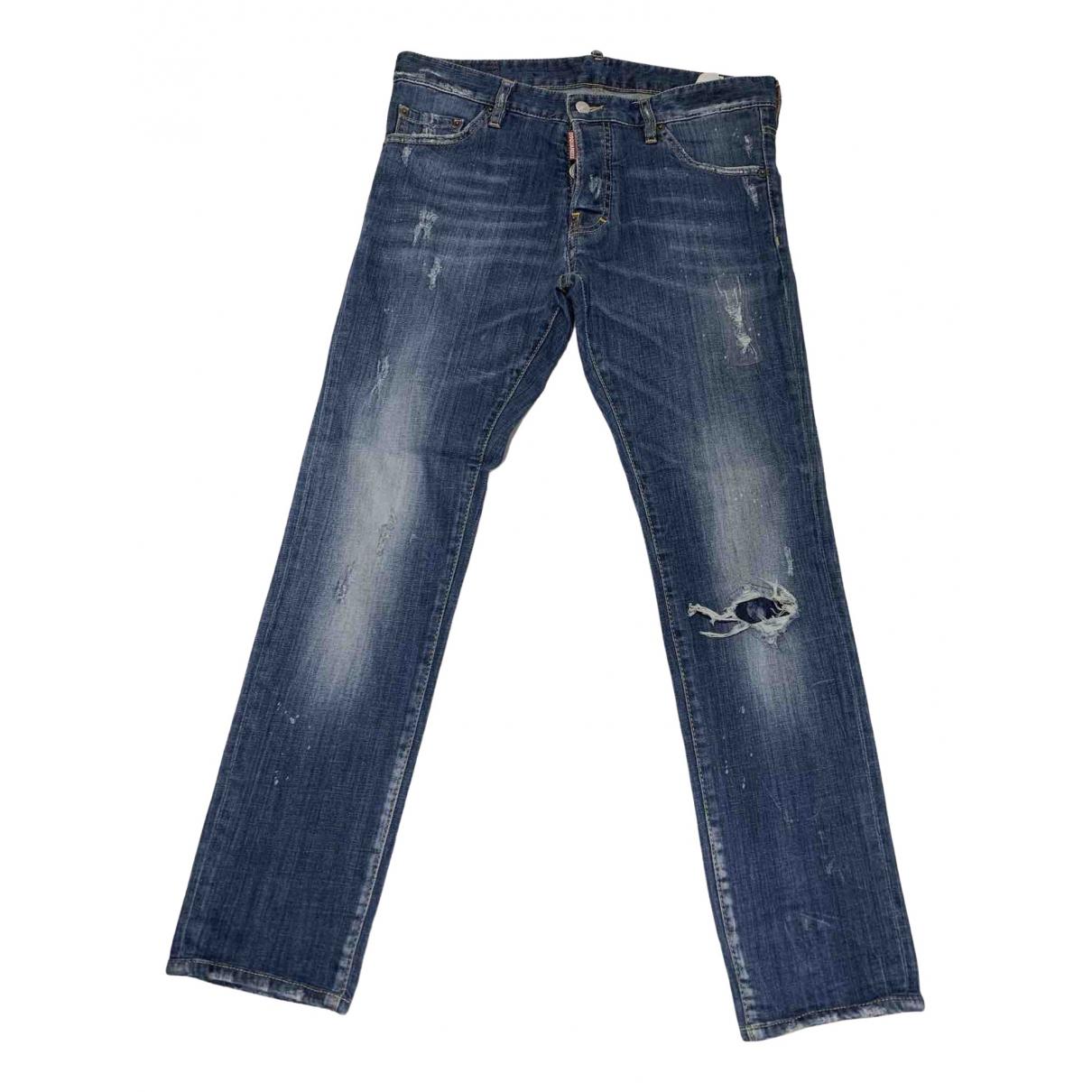 Dsquared2 \N Blue Cotton - elasthane Jeans for Men 31 US