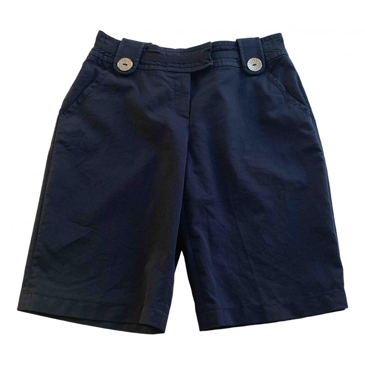 Escada \N Blue Cotton Trousers for Women 36 FR