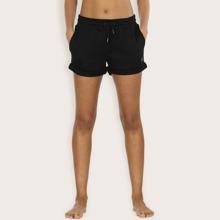 Sports Shorts mit Kordelzug um die Taille