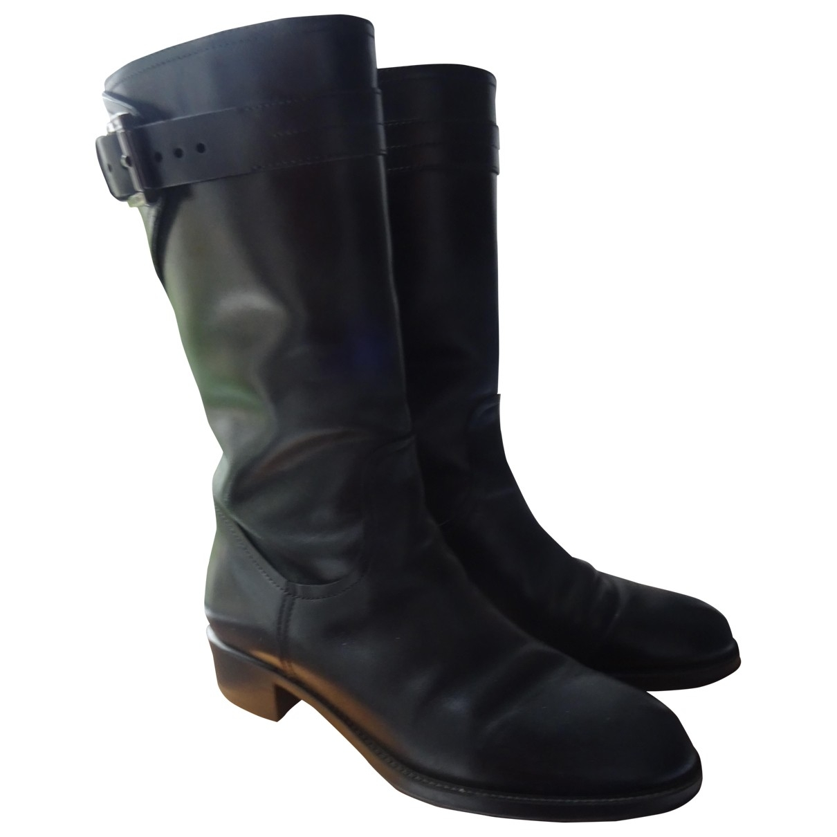Tod's \N Black Leather Boots for Women 36 EU