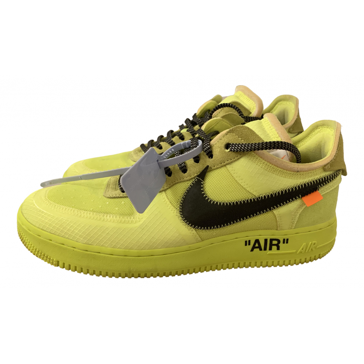Nike X Off-white Air Force 1 Sneakers in  Gelb Leinen