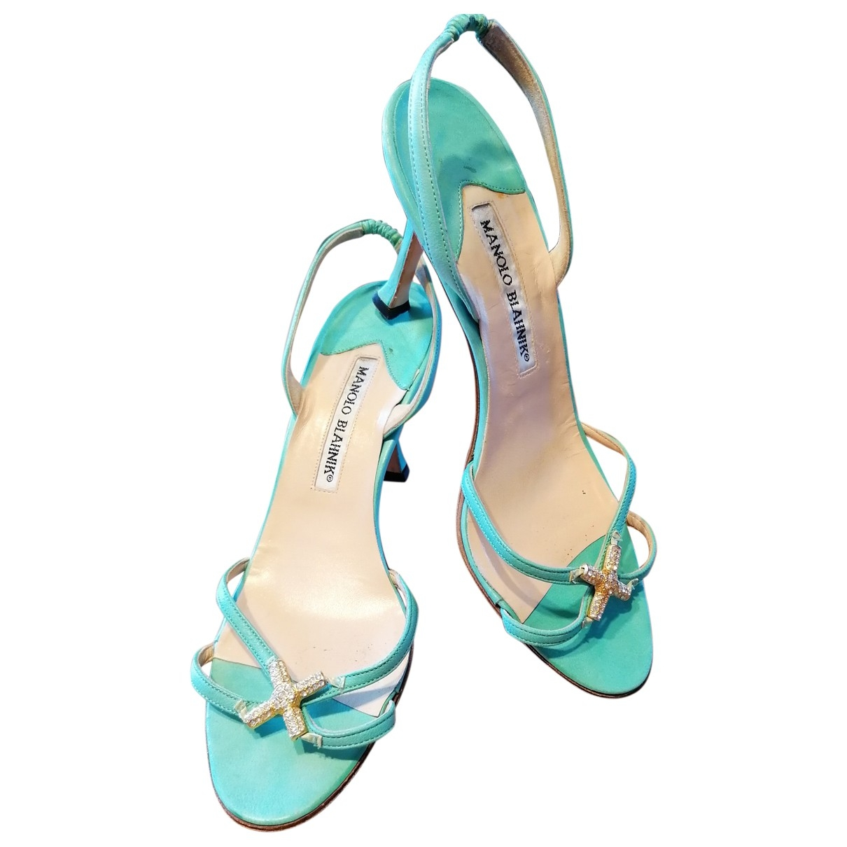 Jimmy Choo - Sandales   pour femme en cuir - bleu