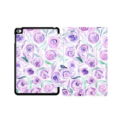 Apple iPad mini 4 Tablet Smart Case - Purple Rose Floral von Becky Starsmore