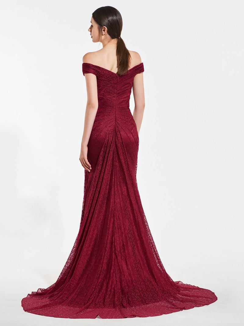 Ericdress Off The Shoulder Lace Mermaid Bridesmaid Dress