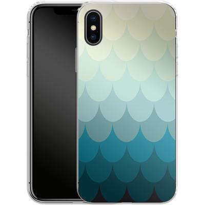 Apple iPhone X Silikon Handyhuelle - Scales von caseable Designs
