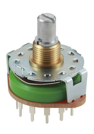 Alps Alpine , 12 Position SP12T Rotary Switch, 250 mA, PC Pin