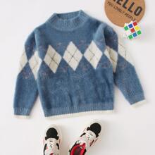Toddler Boys Geo Print Sweater