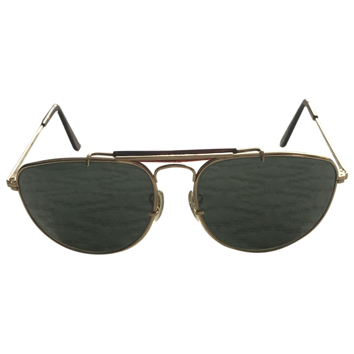 Ray-ban Aviator Gold Metal Sunglasses for Men N