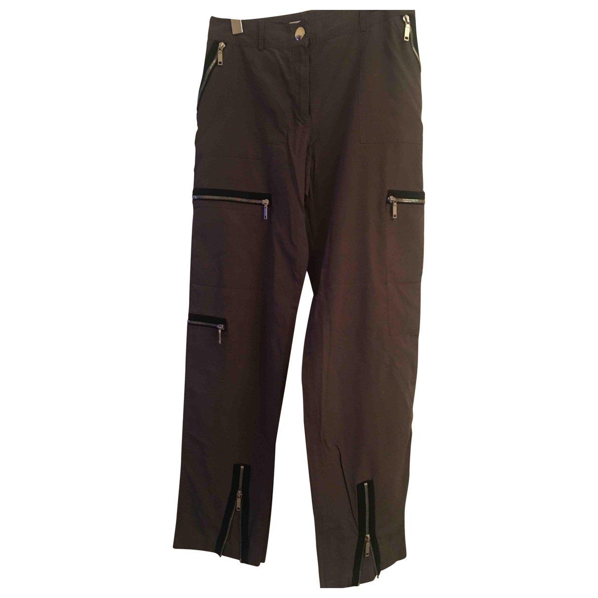 Celine \N Grey Trousers for Women 40 FR