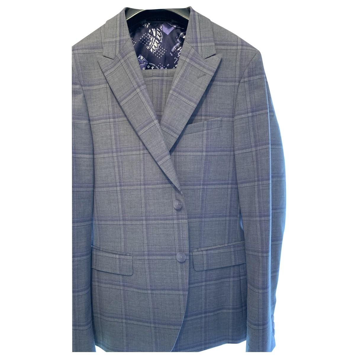 Ted Baker - Costumes   pour homme en laine - gris