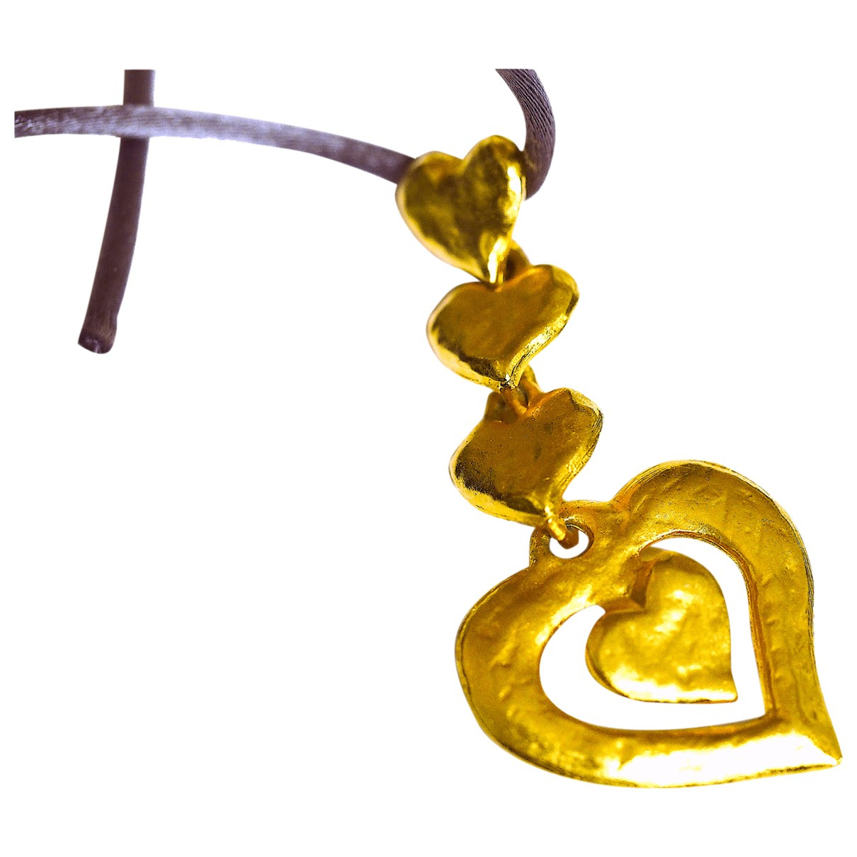 Yves Saint Laurent - Pendentif   pour femme en metal - dore